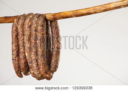 Hanging Smoked Sausage