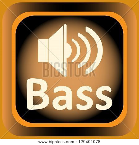 Icon with an inscription bass and loudspeaker