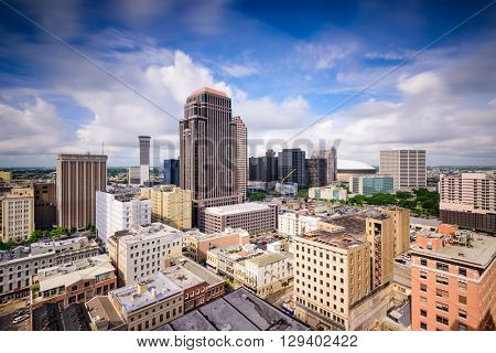 New Orleans, Louisiana, USA dontown skyline.