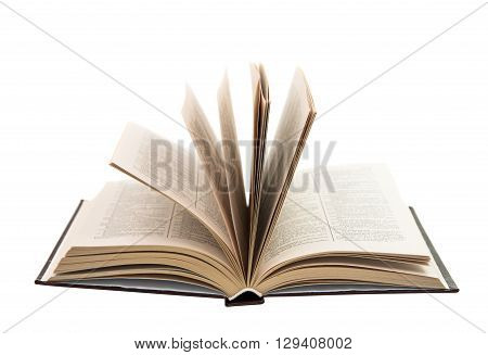 open book isolated on white background education, archive,
