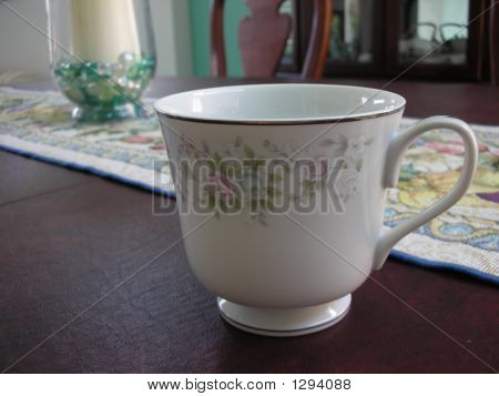 Teacup On Dining Room Table