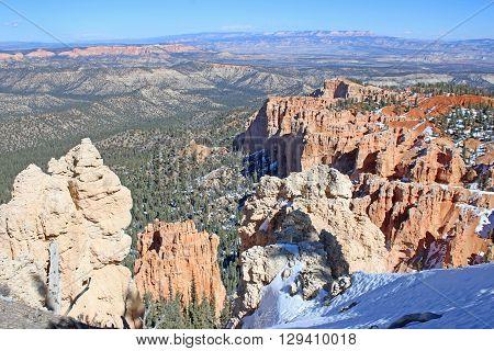 Red Rock hoodoos in Bryce Canyon, Utah