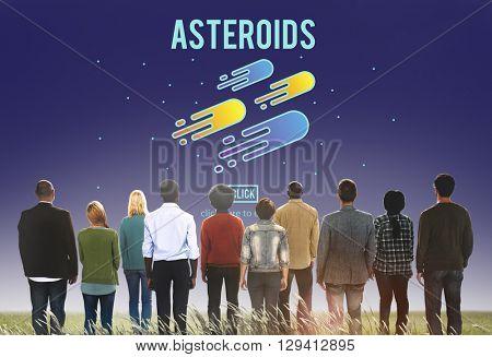 Asteroids Astronomy Exploration Nebular Concept