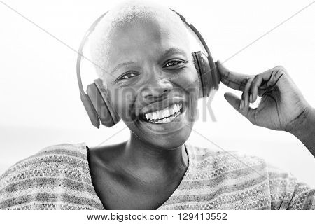 Music Headphone Listening Happiness Rhythm Concept