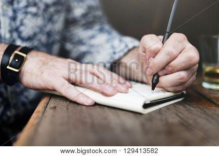 Jounalism Memo Writing Author Creativity Inspire Concept
