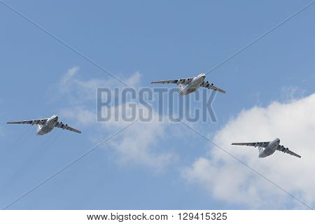 Group Of Ilyushin Il-76Md Cargo Airplanes