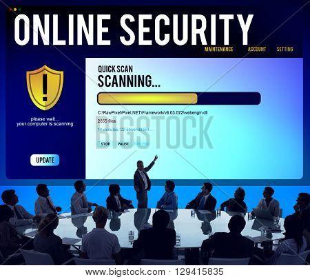 Online Security Scanning Online Internet Concept