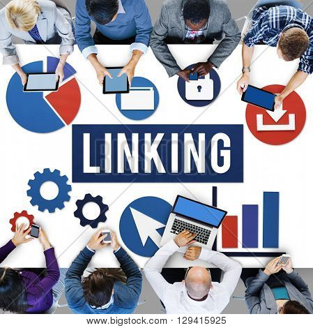 Linking Connection Share Hyperlink Concept