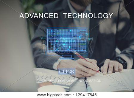 Advanced Technology Computing Networking Concept