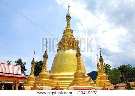 Wat Wareebanpot Temple in Ranong in Thailand.