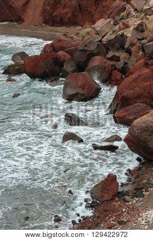 Red Beach of Santorini