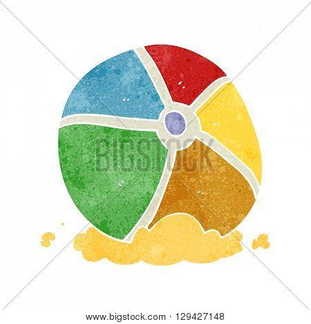 freehand retro cartoon beach ball