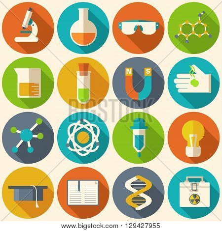 Retro Experiments In A Science Chemistry Laboratory Icon