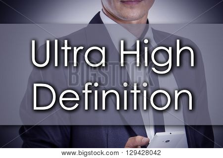 Ultra High Definition - Young Businessman With Text - Business Concept