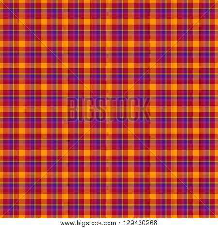 Decorative fabric red, orange and blue texture - tartan