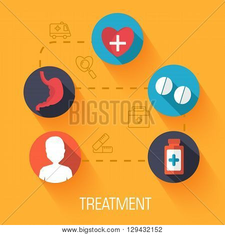 Set Of Medical Illustrations Concepts Infographic Background