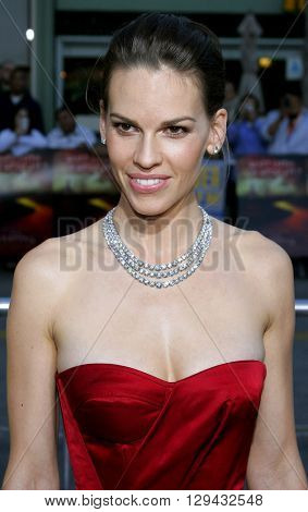 Hilary Swank at the Los Angeles premiere of 'The Reaping' held at the Mann Village Theater in Westwood, USA on March 29, 2007.