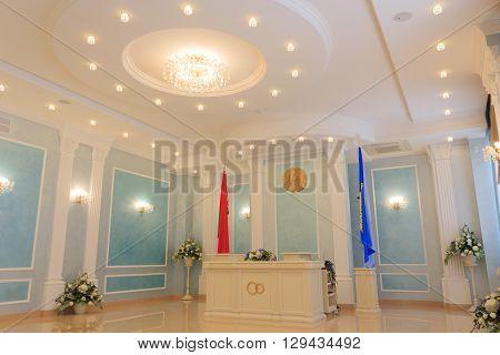 Gomel, Belarus - June 3, 2015: Department Of Civil Registry Office, A Building For The Official Regi