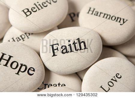 Inspirational stones - Faith