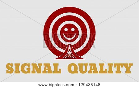 Wi Fi Network Symbol . Mobile gadgets technology relative vector image. Quality of signal value