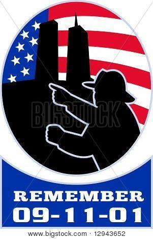 9 / 11 US-amerikanischer Feuerwehrmann