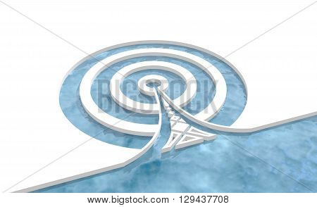 Wi Fi Network Symbol . Mobile gadgets technology relative image. 3D rendering