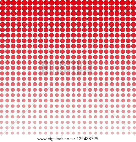Red background with white halftone dot gradient concept