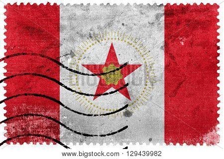 Flag Of Birmingham, Alabama, Old Postage Stamp