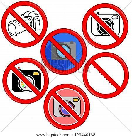 No Camera No Photo Sign Red Prohibition