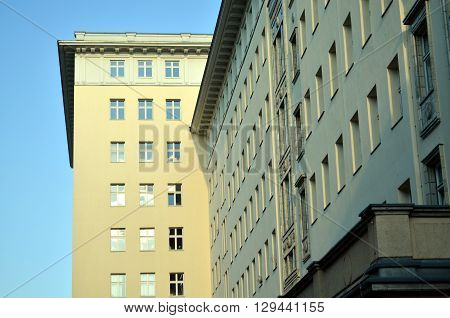 typical german old building from socialist times in berlin