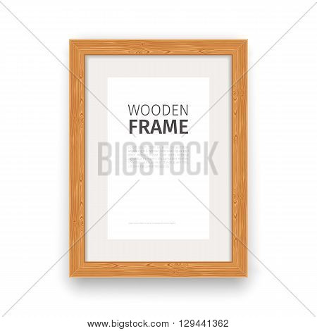 Wooden rectangle frame natural. Used pattern brushes included in Brushes panel. Clipping paths included.