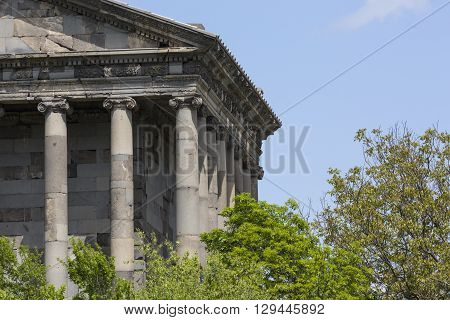 Ancient Garni pagan Temple the hellenistic temple in Armenia