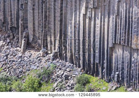Unique geological wonder Symphony of the Stones near Garni Armenia