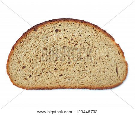 Slice of bread. Bread slice,  isolated on white background