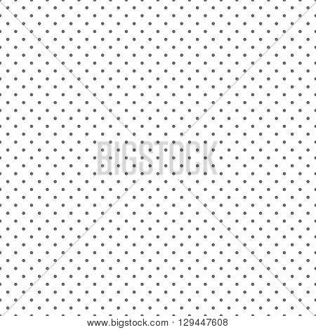 Vector grey polka dots seamless pattern background.