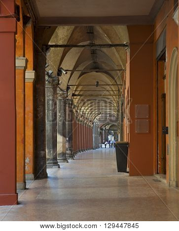 Arcade And Gallery In Bologna (italy).