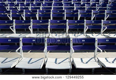 Empty spectator seats