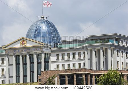 Tbilisi, Georgia - May 07: The Main Office Of The President At Sunset On May 07, 2016 In Tbilisi. Th