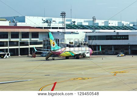 BANGKOK - MAY 3: Don Mueang International Airport on May 3 2016 in Bangkok. It is considered to be one of the worlds oldest international airports.