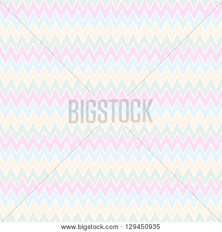A seamless pattern with zig-zag in pastel colors
