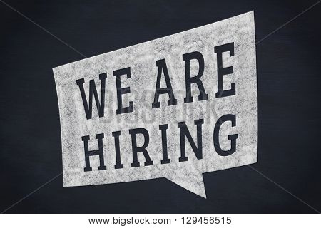 We are hiring message against blackboard