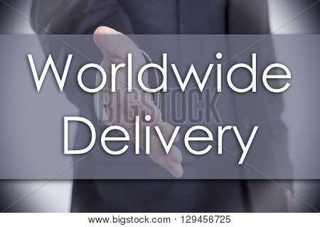 Worldwide Delivery - Business Concept With Text