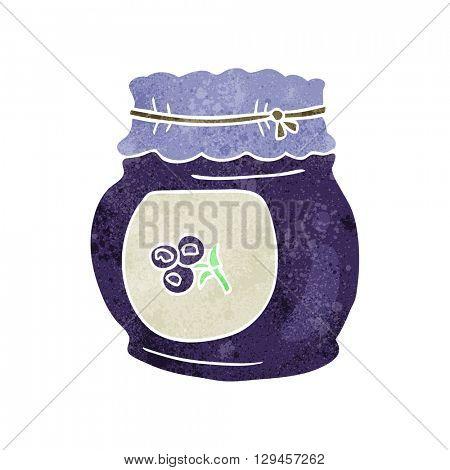 freehand retro cartoon blueberry jam