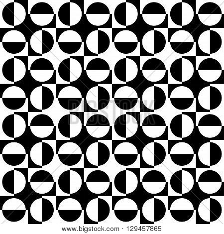 Geomatric Abstract Seamless Pattern B&w