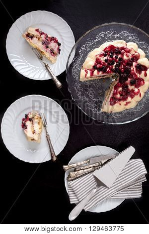 Cake With Mascarpone And Red Fruits
