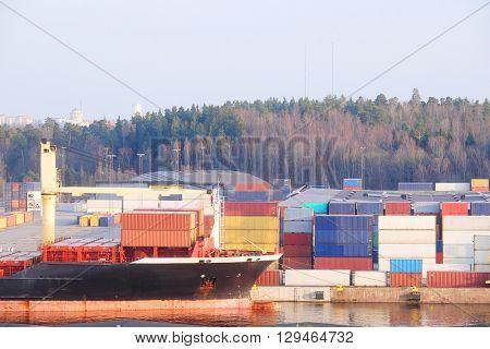 Cargo port in Stockholm, Sweden