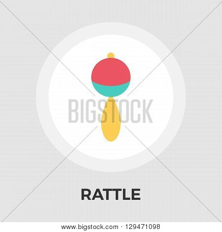 Rattle Icon Vector. Flat icon isolated on the white background. Editable EPS file. Vector illustration.
