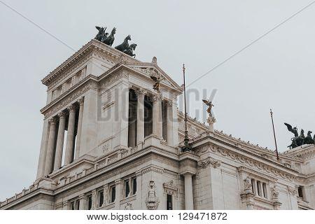 Il Vittoriano building. Piazza Venezia. Rome, Italy,