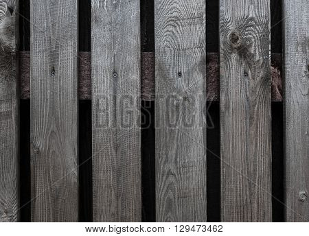 Fragment Of A Gray Wooden Gate