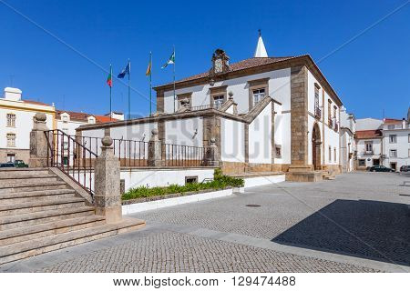 City Hall building of Castelo de Vide. Alto Alentejo, Portugal